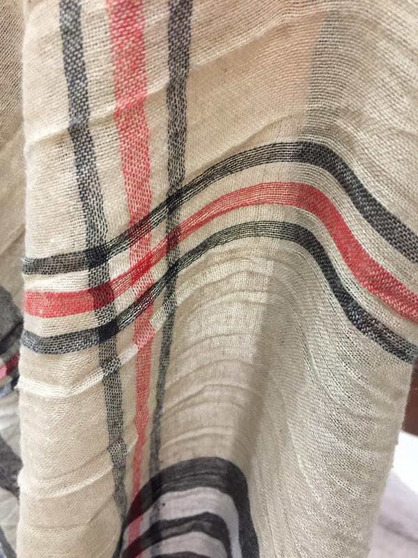 Большой шарф стиль burberry - Фото 3