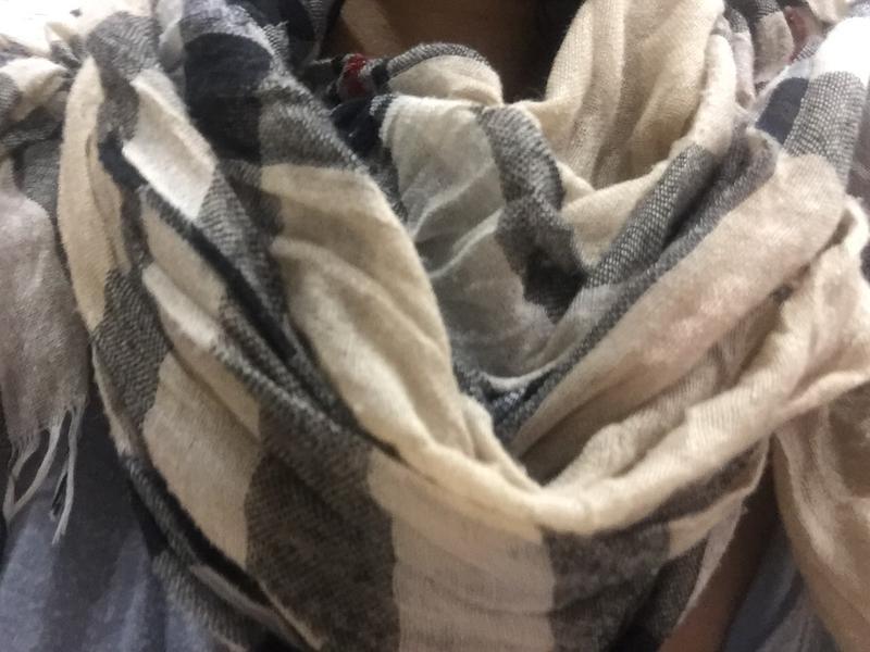 Большой шарф стиль burberry - Фото 4