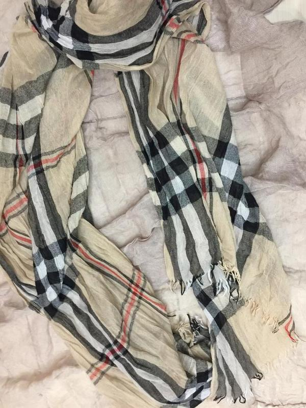 Большой шарф стиль burberry - Фото 5