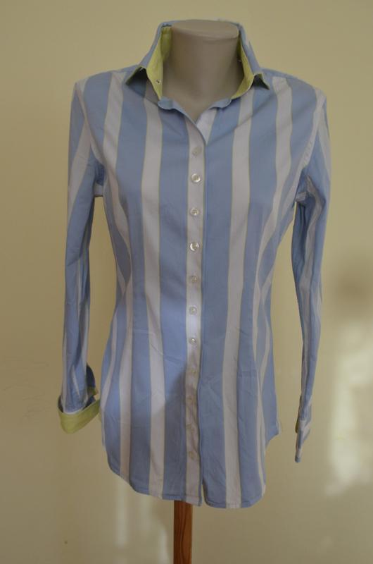 Шикарная брендовая итальянская блуза рубашка в полоску
