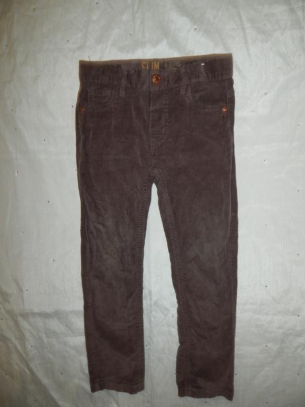 Джинсы  брюки штаны вельветовые  модные на мальчика slim 4-5 л...