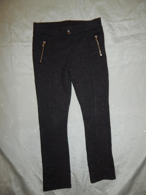 Плотные  модные трикотажные штаны на девочку 5-6 лет от h&m sk...