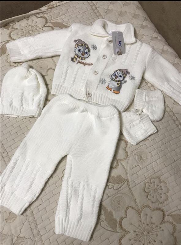 Вязаный костюм набор на малыша