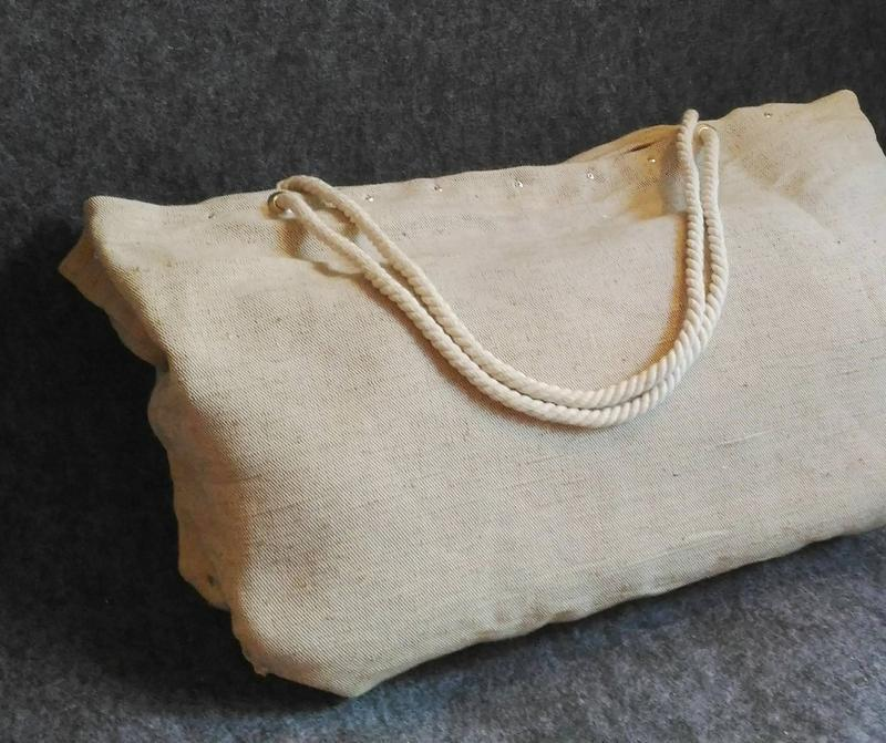 Пляжная сумка, большая, натуральная