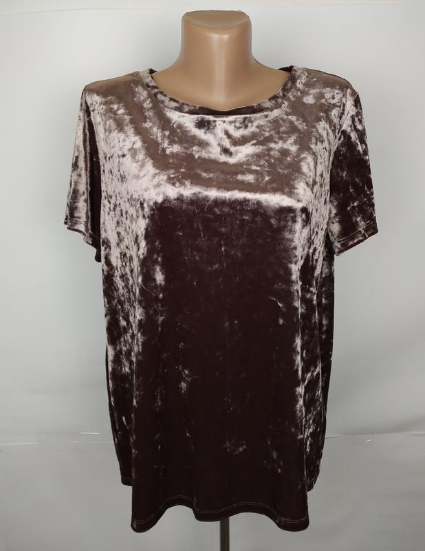 Блуза топ новая шикарная велюровая marks&specner uk 14/42/l