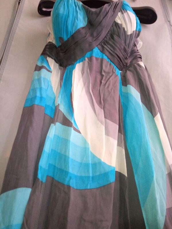Платье monsoon  шифон шелк в пол