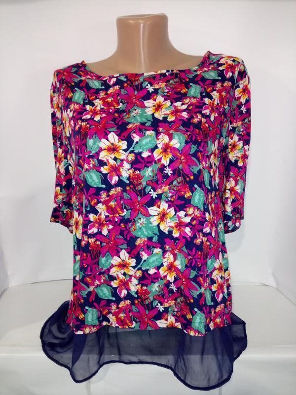 Блуза модная красивой расцветки peacocks uk 14/42/l