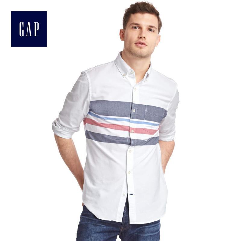 Белая мужская рубашка gap , slim fit !