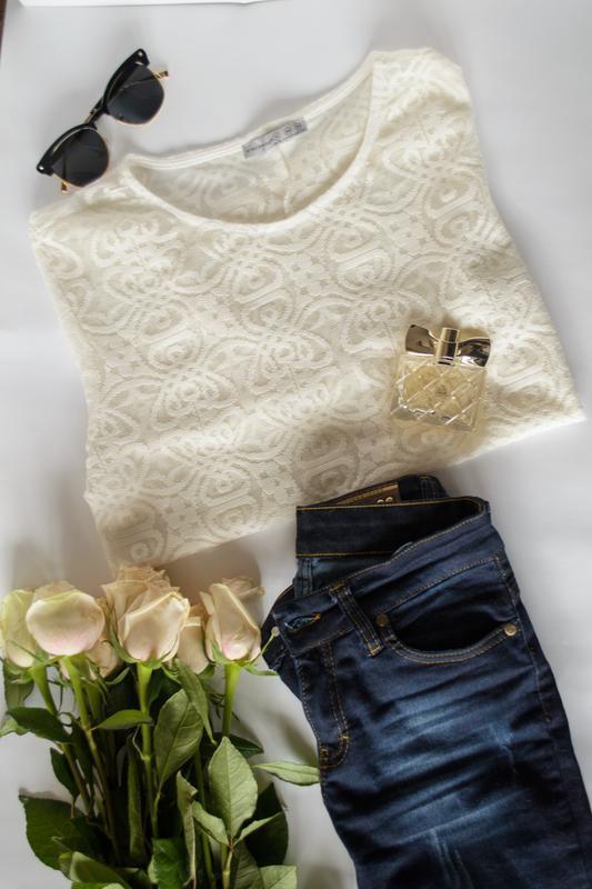 Белый кружевной топ atmosphere блузка