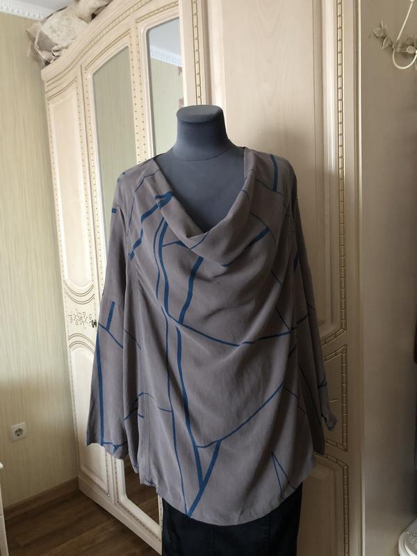 Стильная блузка блуза туника из шелковой ткани - лиосцел тенсе...