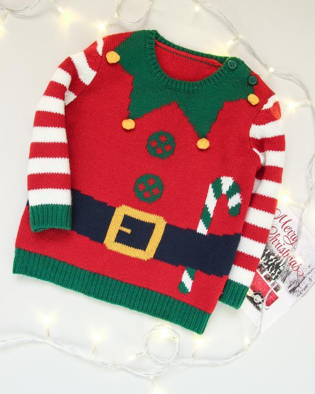 Новогодний свитер от george костюм эльфа