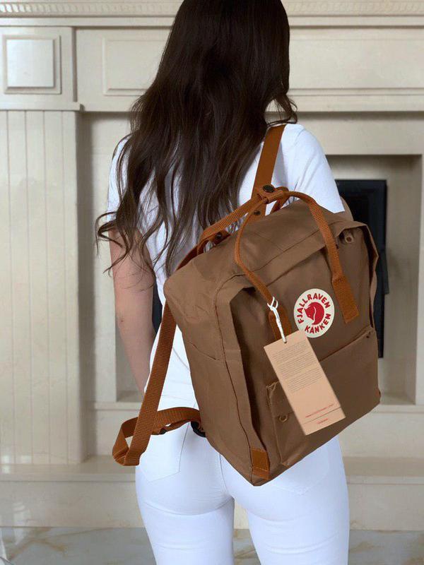 Нереально красивый рюкзак kanken в коричневом цвете 😍