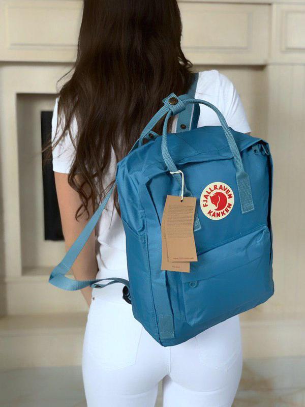 Нереально стильный рюкзак kanken classic в синем цвете 😍