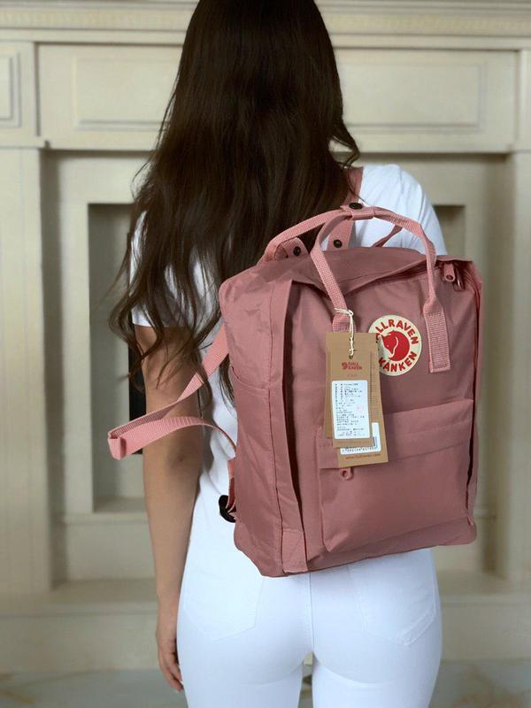 Красивый женский рюкзак kanken в нежно-розовом цвете 😍