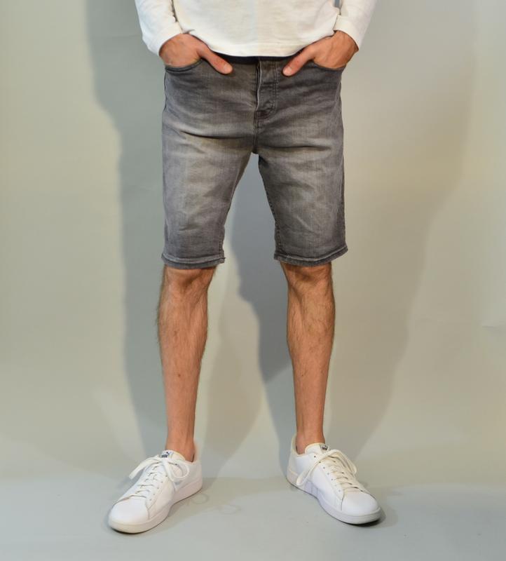 4065\110 светлосерые джинсовые шорты new look m