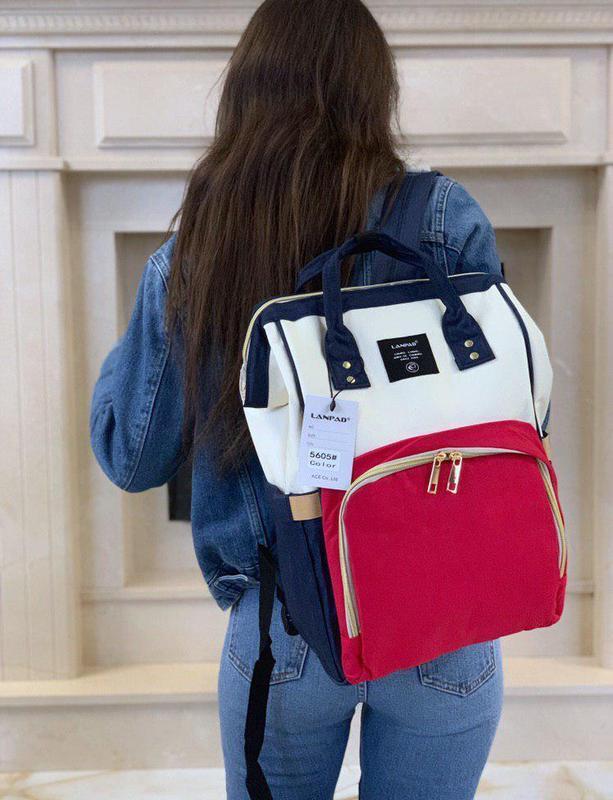 Шикарный женский рюкзак органайзер lanpad с большим количество...