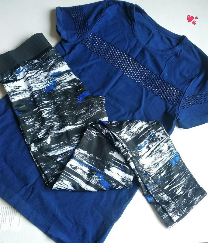 Комплект футболка и лосины спортивный,одежда для фитнеса