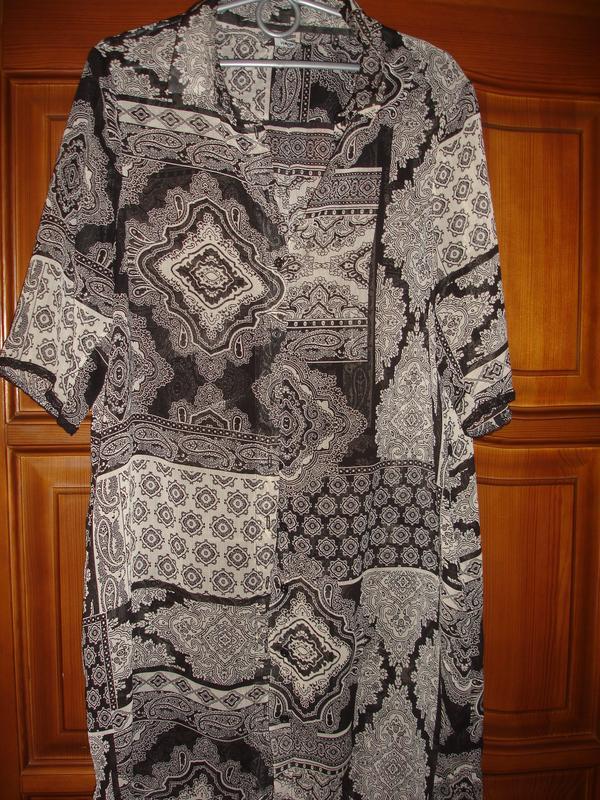 Туника в рубашечном стиле новая размер 48-50 /16 тонкая блузка...