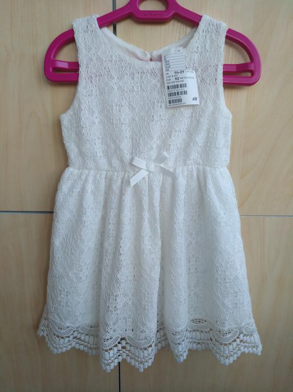 Платье ажурное h&m на 2 года