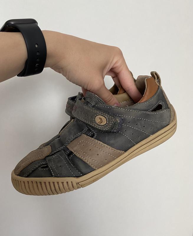 Закрытые босоножки открытые туфли geox 33р 21см????????????