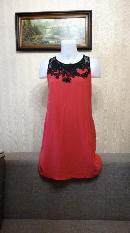Платье трапеция свободный крой размер 36-38