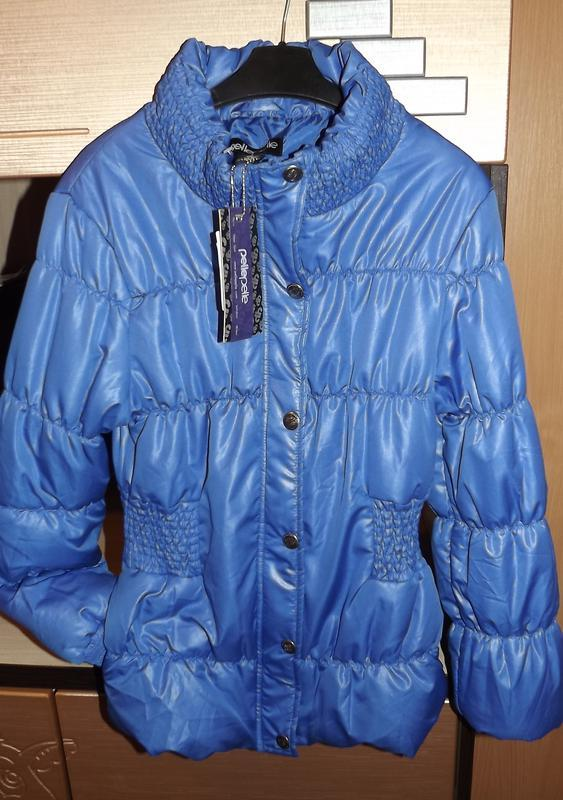 Куртка деми синяя короткая pellepelle 40/l/12 размер.