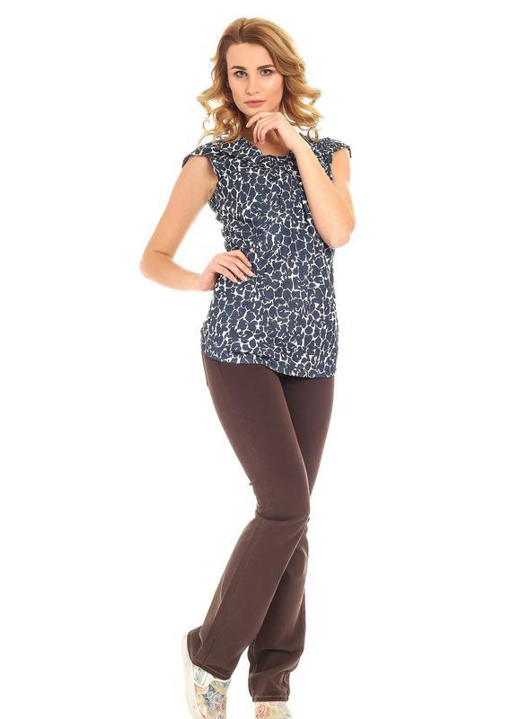 Блуза для женщин, темно-синяя с белым - conbipel l 40 размер