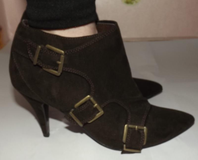 Ботинки, полу сапоги коричневые 24,5 см стелька
