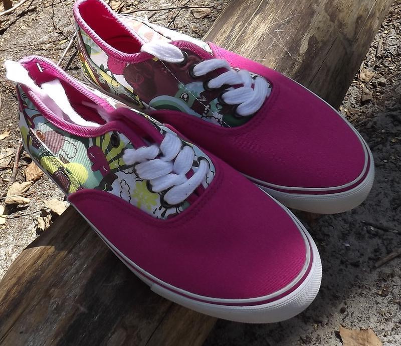 Кеды мокасины розовые шнуровка 35,5 см стелька