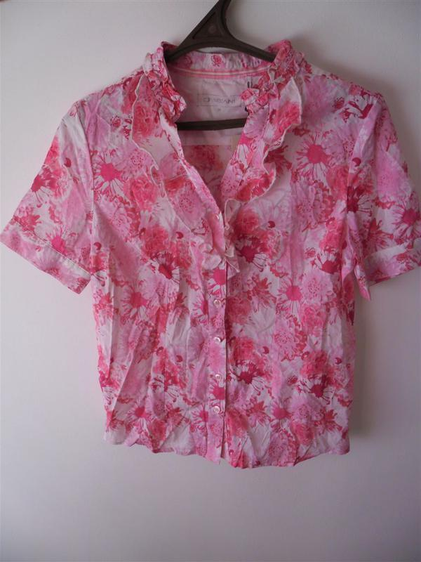 Хлопковая fabiani блуза рубашка 38 размер м