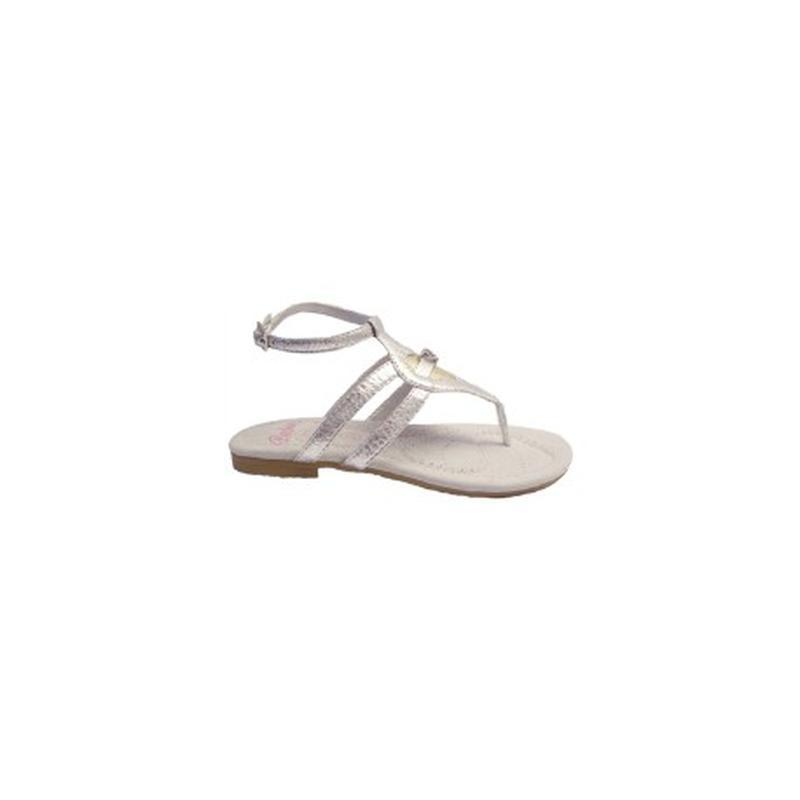 Босоножки серебряные сандалии кожаная стелька 28 р