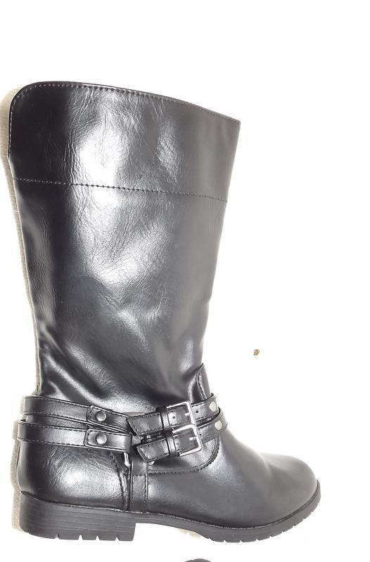 Сапоги ботинки faded glory девочке чёрные 22 см стелька