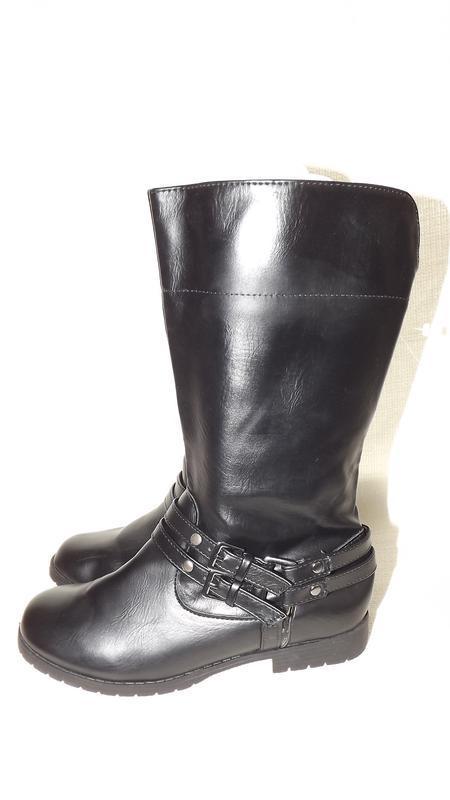 Сапоги ботинки faded glory чёрные 22 см стелька