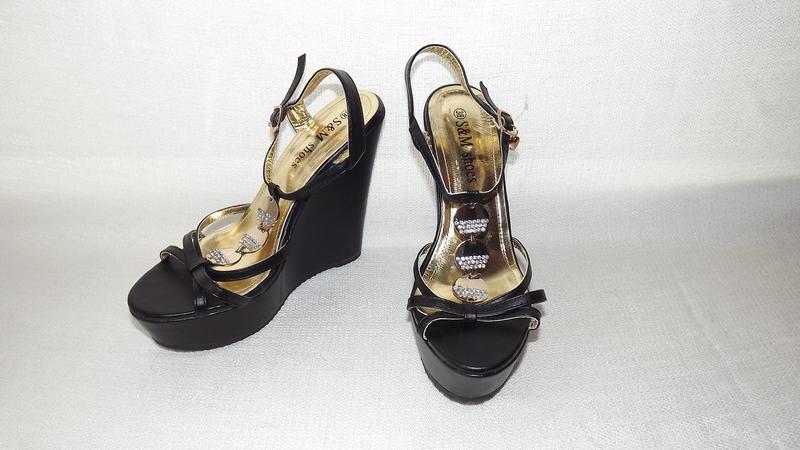 Босоножки платформа танкетка s&m shoes 24 стелька
