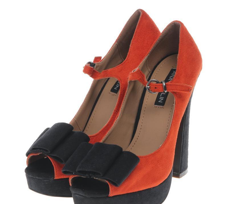 Туфли женские оранжевые