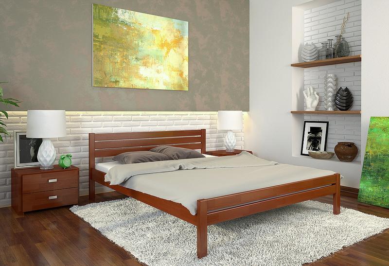 """Ліжка нові з натурального дерева, сосни або буку, """"Роял"""" 160/200"""