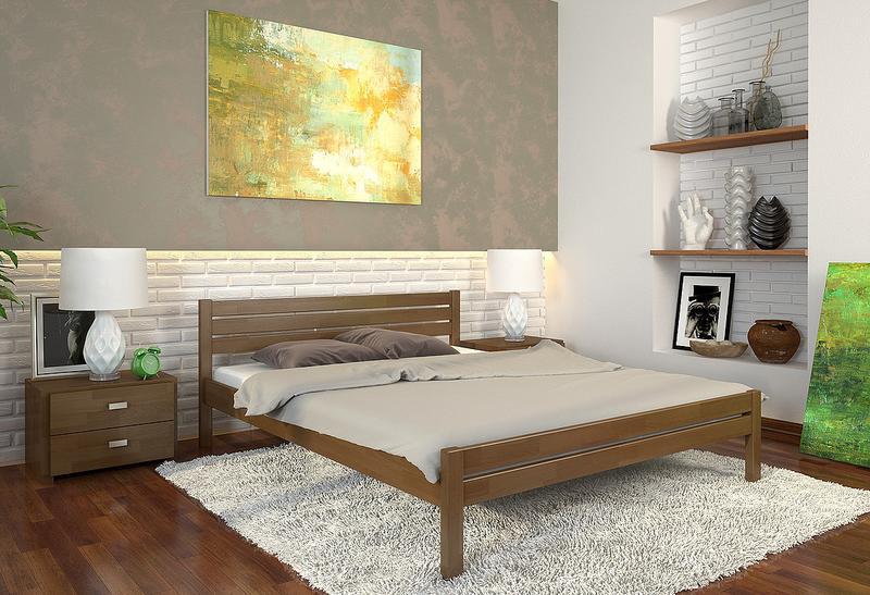 """Ліжка нові з натурального дерева, сосни або буку, """"Роял"""" 160/200 - Фото 2"""