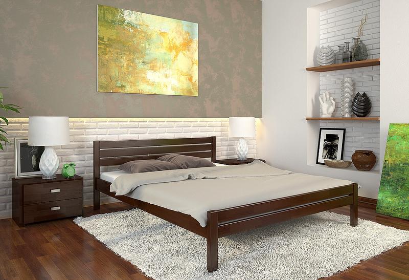 """Ліжка нові з натурального дерева, сосни або буку, """"Роял"""" 160/200 - Фото 3"""