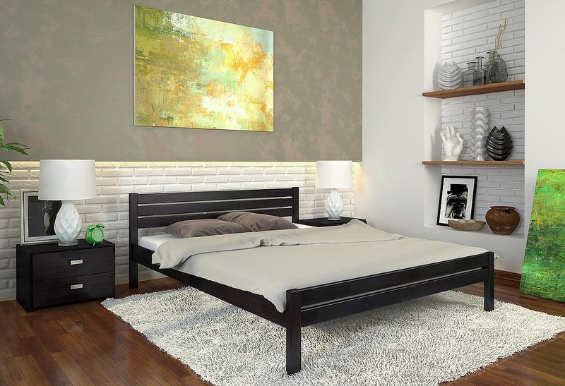 """Ліжка нові з натурального дерева, сосни або буку, """"Роял"""" 160/200 - Фото 4"""
