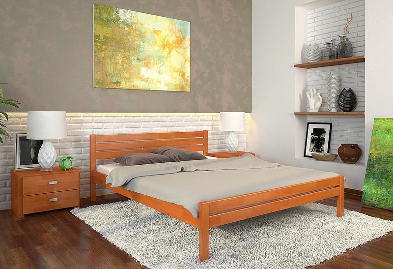"""Ліжка нові з натурального дерева, сосни або буку, """"Роял"""" 160/200 - Фото 5"""