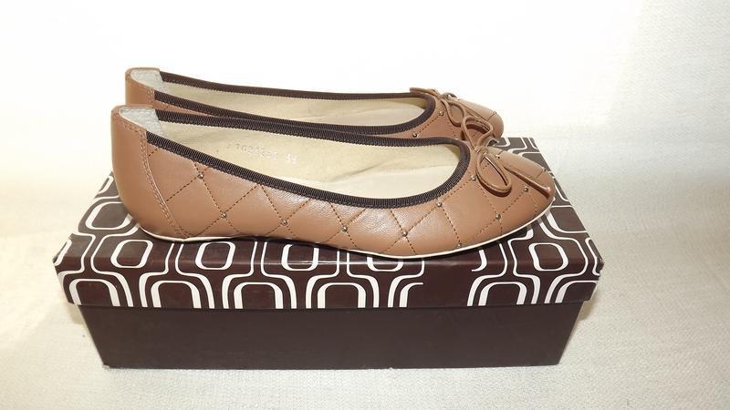 Балетки туфли кожаные covani 24 стелька