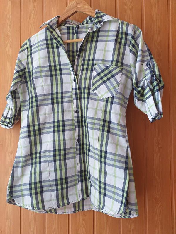 Рубашка в клетку хлопок asme m -l