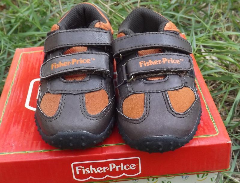 Кроссовки кожа мальчику светяться fisher price 20,21,22 размер - Фото 2