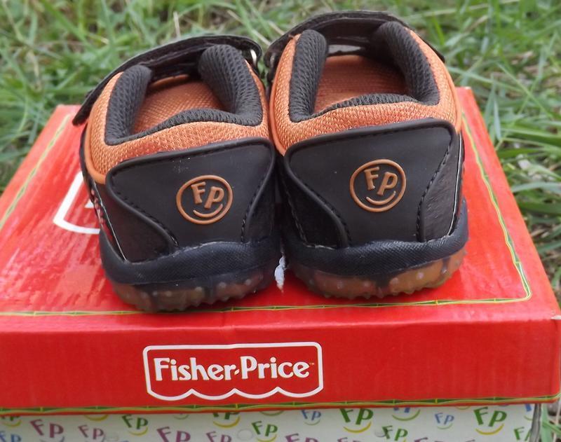 Кроссовки кожа мальчику светяться fisher price 20,21,22 размер - Фото 3