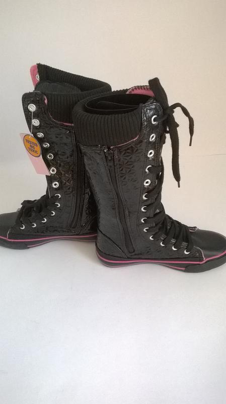 Кроссовки кеды чёрные,30 - Фото 4
