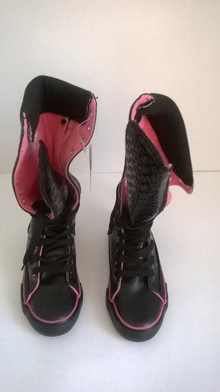 Кроссовки кеды чёрные,30 - Фото 5