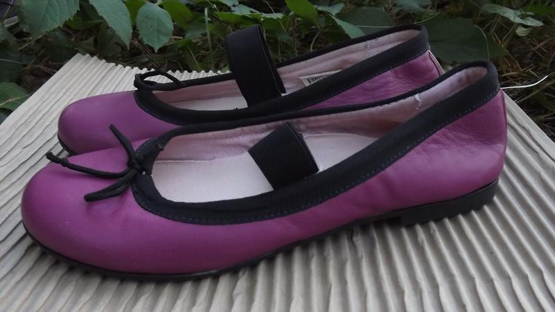 Балетки фиолетовые кожаная стелька mini b 38 р.