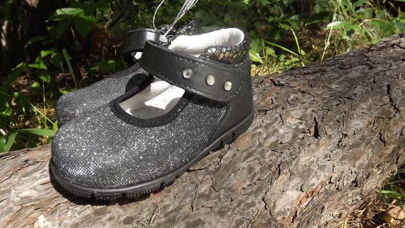Туфли нарядные кожа чёрные melania 20 размер