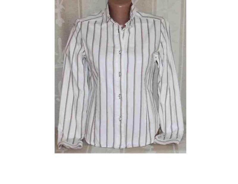 Рубашка в полоску коттон mary line, италия xs