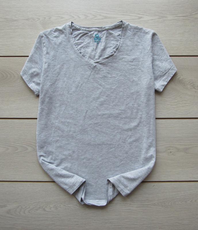 Базовая серая укороченная футболка от soft